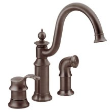 Waterhill oil rubbed bronze one-handle kitchen faucet