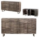 Bengal Manor Mango Wood Wave 4 Door Grey Sideboard Product Image