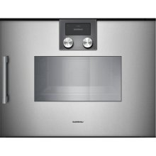 "200 series 200 series Combi-steam oven Full glass door in Gaggenau Metallic Width 24"" (60 cm) Right-hinged Controls on top"
