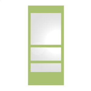 New Generation rectangular ECOLOOM mirror with a laminated colored glass border. Product Image