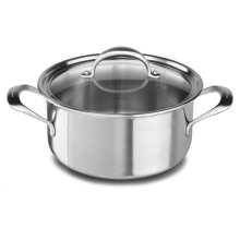 5-ply Copper Core 6-Quart Low Casserole with Lid - Stainless Steel Finish