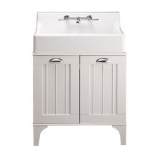 Oak Hill White Bathroom Sink with Vanity - Canvas White / White Oak