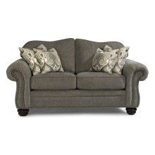 Bexley One-Tone Fabric Loveseat with Nailhead Trim