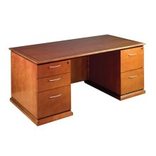 "Mendocino Double Pedestal Desk 72""x36"""