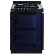 """AGA Module 24"""" Electric/Natural Gas Dark Blue with Stainless Steel trim"""