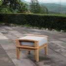 Marina Outdoor Patio Teak Ottoman in Natural Gray Product Image