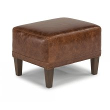 Wheatley Leather Ottoman