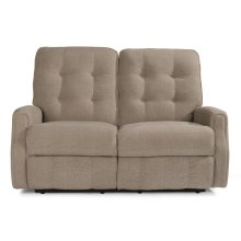 Devon Leather Power Reclining Loveseat without Nailhead Trim