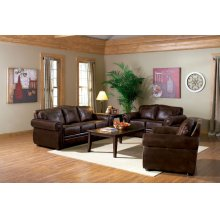 LOVESEAT/TOBACCO FINISH 65''Lx38-1/2''Wx37''H