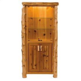Display Cabinet - Natural Cedar