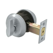 Single Deadbolt IC Core Non CYL GR1 - Brushed Chrome