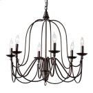 Baxton Studio Palmira Transitional Dark Bronze Metal 6-Light Chandelier Product Image