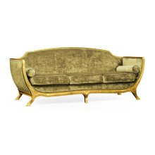 Empire Style Sofa (Gold Leaf/Velvet Lime)