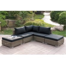 416 / Liz.p34- 5PC OUTDOOR PATIO SOFA SET [P50156(1)+P50157(2)+P50158(2)]
