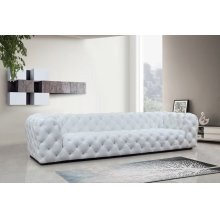 Divani Casa Dexter Transitional White Full Italian Leather Sofa