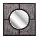 Sabina Wood and Metal Framed Mirror Product Image