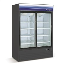 45 cu ft 2 Slide Door Merchandiser Refrigerator (Black)