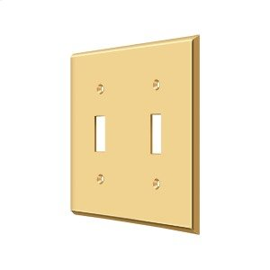 Switch Plate, Double Standard - PVD Polished Brass Product Image