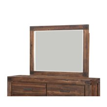 Meadow Mirror with Brick Brown Finish