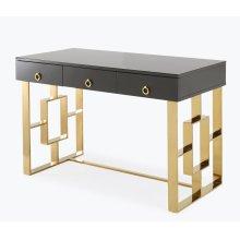 Audrey Grey Lacquer Desk