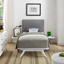 Tracy 3 Piece Twin Bedroom Set in White Gray