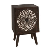 Carved Medallion Two Door Cabinet