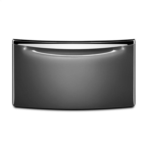 """15.5"""" Laundry Pedestal with Chrome Handle and Storage Drawer"""