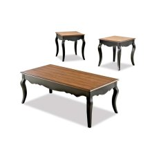 Living Room 3 Table Pack, 2 End,1 Cocktail 201-001 3PAK