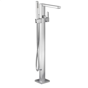 90 Degree chrome one-handle tub filler includes hand shower Product Image