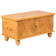 Leelo Coffee Table Trunk, Yellow, CAR-TR-Y