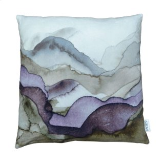Mountains Velvet Feather Pillow