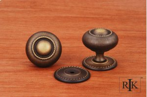 Large Rope Knob with Detachable Back Plate Product Image