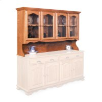 """Classic Open Hutch Top, 76"""", Antique Glass Product Image"""