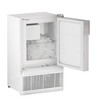 "14"" Marine Crescent Ice Maker White Solid Field Reversible (Flange to Cabinet)"