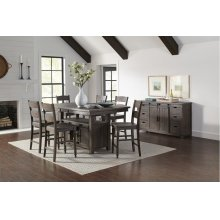Madison County High/low Table With 6 Stools - Vintage White