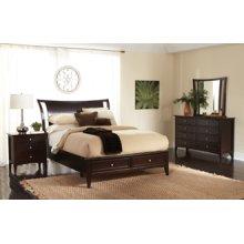 Queen Bed, Dresser, Mirror, Chest, Nightstand