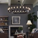 "Teleport 52"" Chandelier in Brown Product Image"