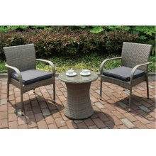 107 / Liz.p3- 3PC OUTDOOR BISTRO SET [P50262(1)+P50162(2)]