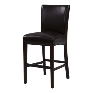 Milton Bonded Leather Counter Stool, Coffee Bean