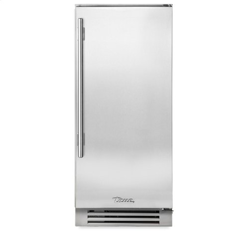 15 Inch Stainless Solid Door Clear Ice Machine - Right Hinge Stainless Solid