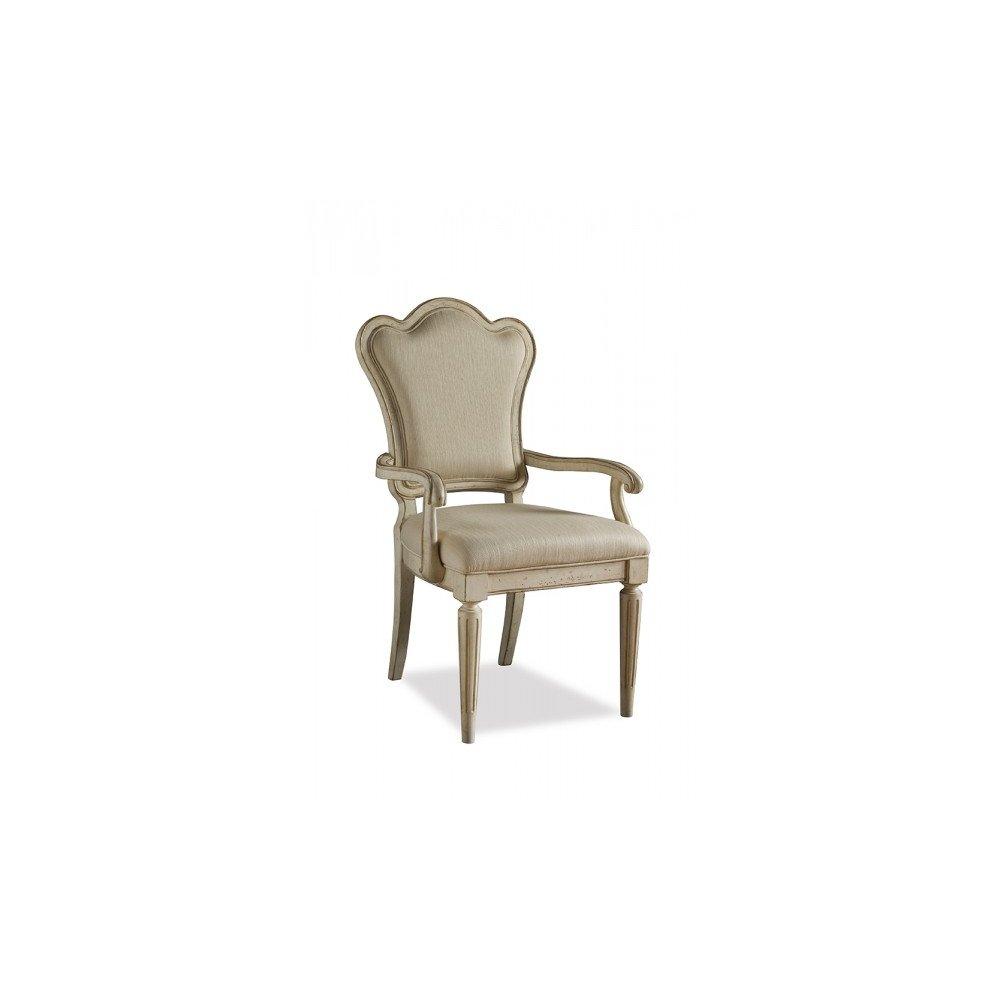 Provenance Upholstered Back Arm Chair - Linen