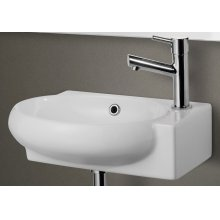 AB107 Small White Wall Mounted Ceramic Bathroom Sink Basin