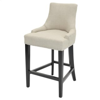 Charlotte Fabric Counter Stool, Linen