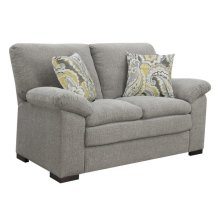 Loveseat W/2 Accent Pillows- Gray #fog Scala Dtc1422-29