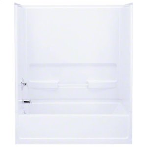 "Advantage™, Series 6103, 60"" x 56-1/4"" Bath/Shower - Back Wall - White Product Image"