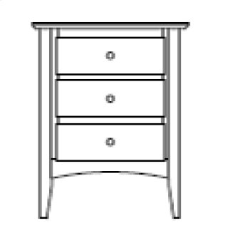 Sedona 3 Drawer Nightstand