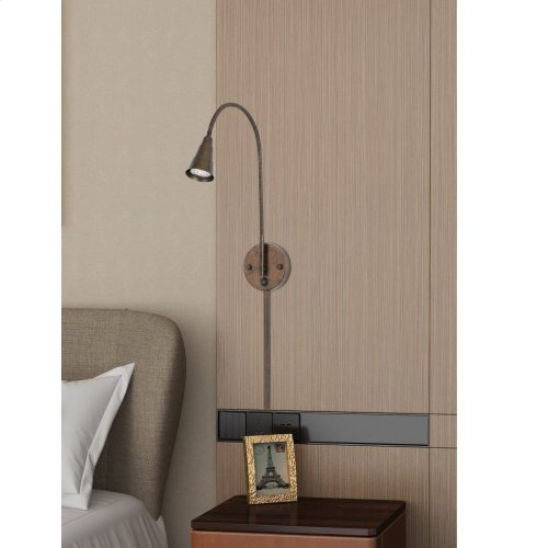 GU10 LED wall mount gooseneck lamp (3K LED bulb included)