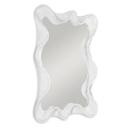 Scalloped Mirror - White