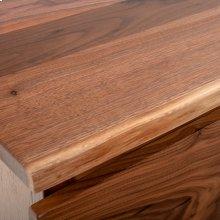 Hillsboro 5 Drawer Chest (barnwood or Walnut Option) - (barnwood Drawer Fronts)