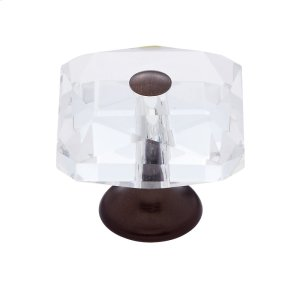 Old World Bronze 35 mm Square Crystal Knob Product Image